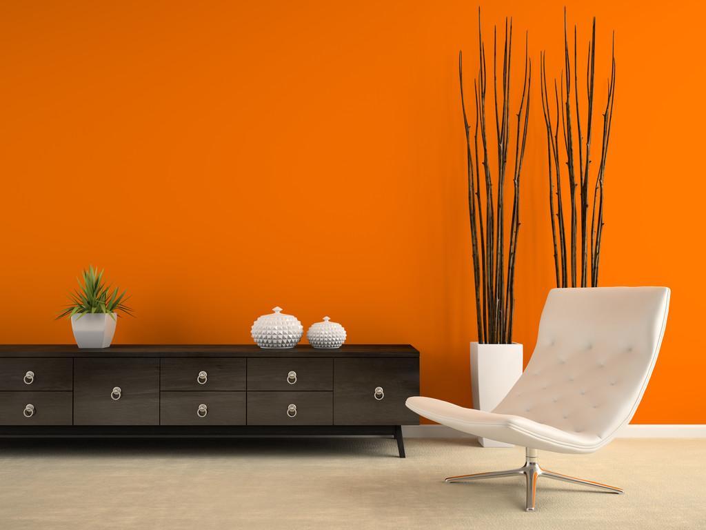集成墙面色彩选择,橙色给你意想不到的惊艳视觉冲击!