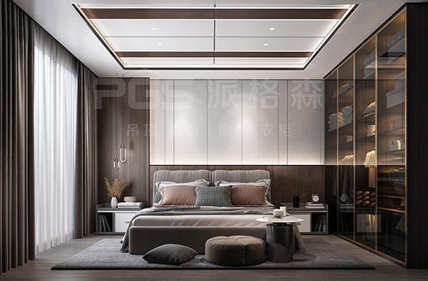 利用条纹设计点缀集成墙面,把你的家装出时尚感!